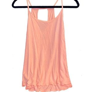 Old Navy Tangerine Orange Key Hole Back Tank